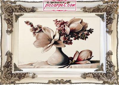 تابلو فرش طرح گل 1000 شانه