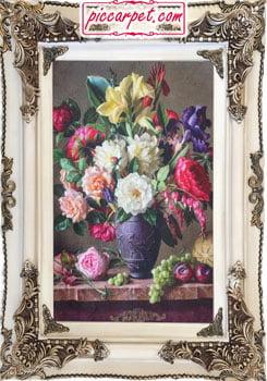 تابلو فرش گل و میوه چاپی