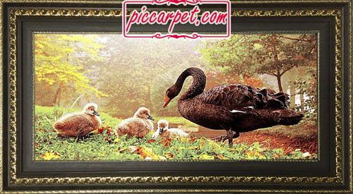 تابلو فرش اردک 1200 شانه با قاب پروفیلی
