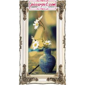 تابلو فرش گلدان گل