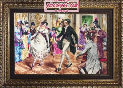 تابلو فرش رقص شاهزاده با قاب پروفیلی