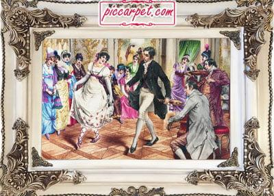 تابلو فرش رقص شاهزاده به همراه قاب چوبی