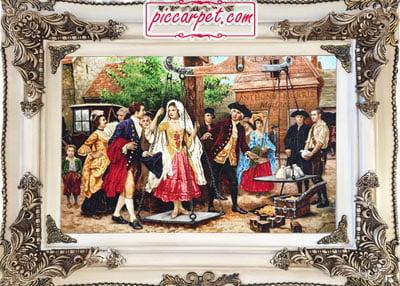 تابلو فرش مهریه عروس به همراه قاب