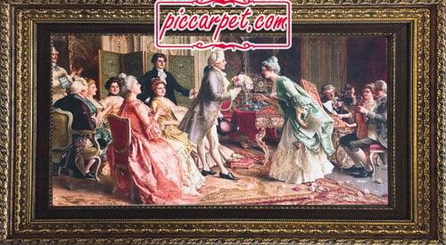 تابلو فرش خواستگاری با قاب پروفیلی