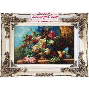 تابلوفرش طرح گل و میوه