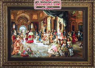 تابلو فرش مهمانی پاپ با قاب پروفیلی