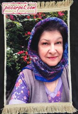 چاپ عکس روی تابلو فرش برای هدیه روز مادر
