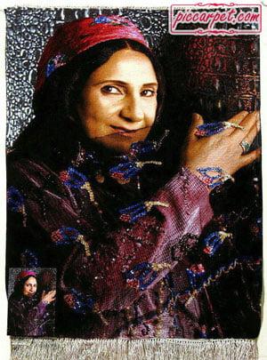 تبدیل عکس به تابلو فرش دستباف برای کادو روز مادر